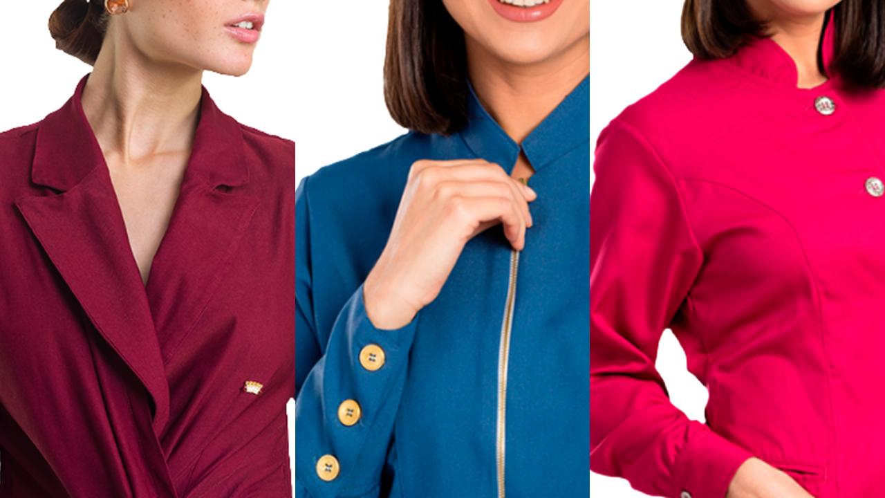 Imagem mostra jalecos coloridos
